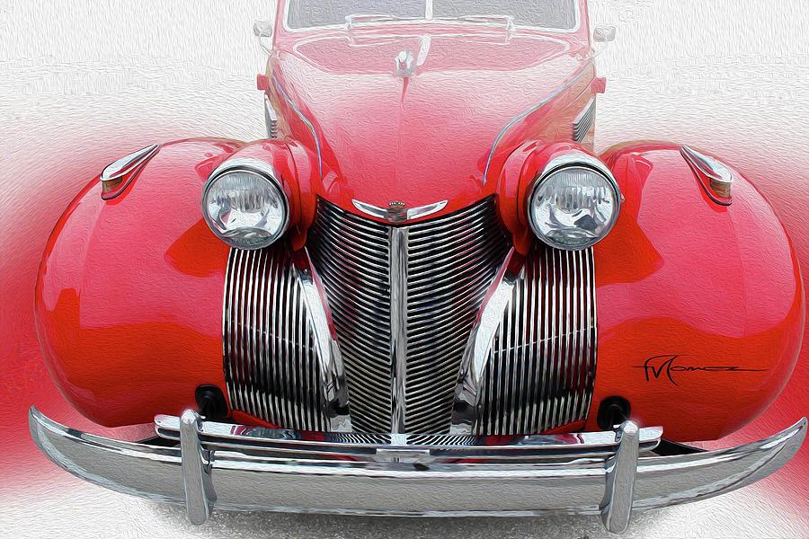 Cadillac Photograph - Big Round Red by Felipe Gomez