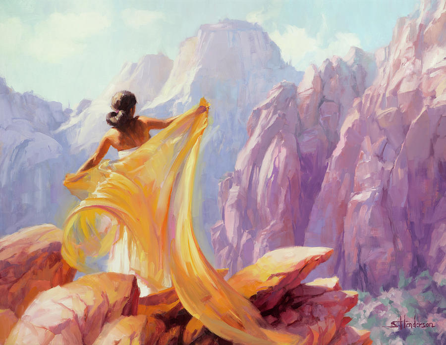 Southwest Painting - Dreamcatcher by Steve Henderson