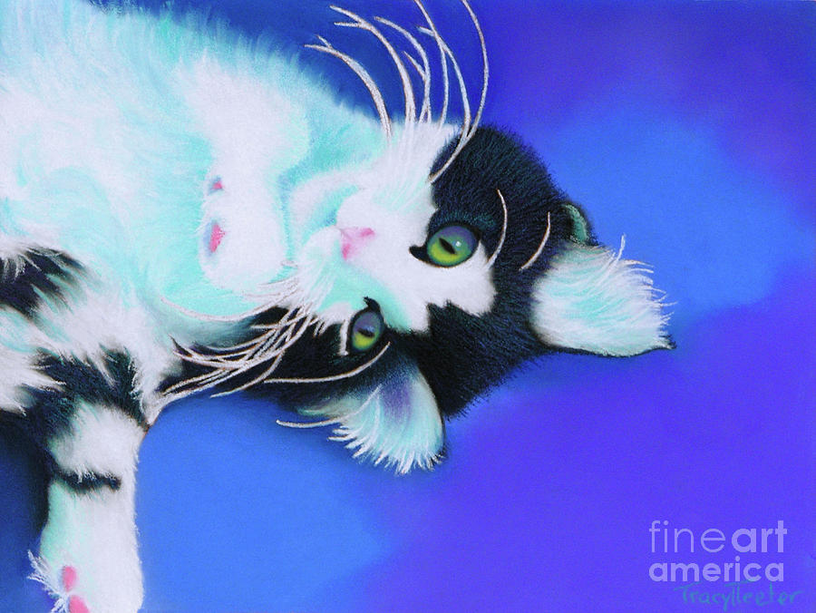 Cat Pastel - Dreamer by Tracy L Teeter