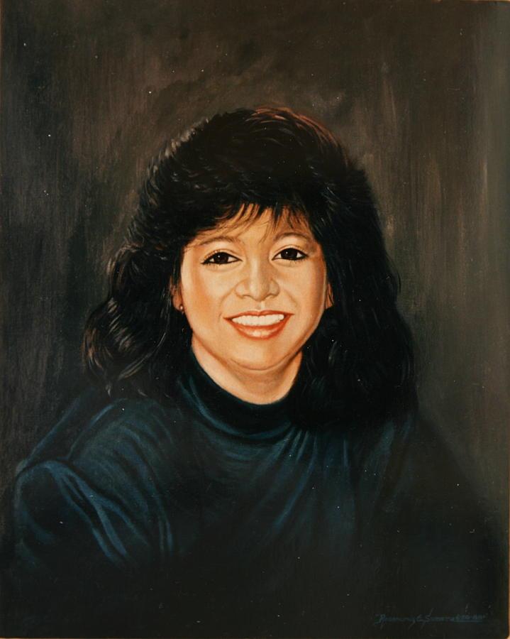 Oil Portrait Painting - Dreamgirl by Rosencruz  Sumera