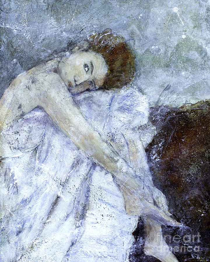 Female Painting - Dreaming  by Barb Pearson