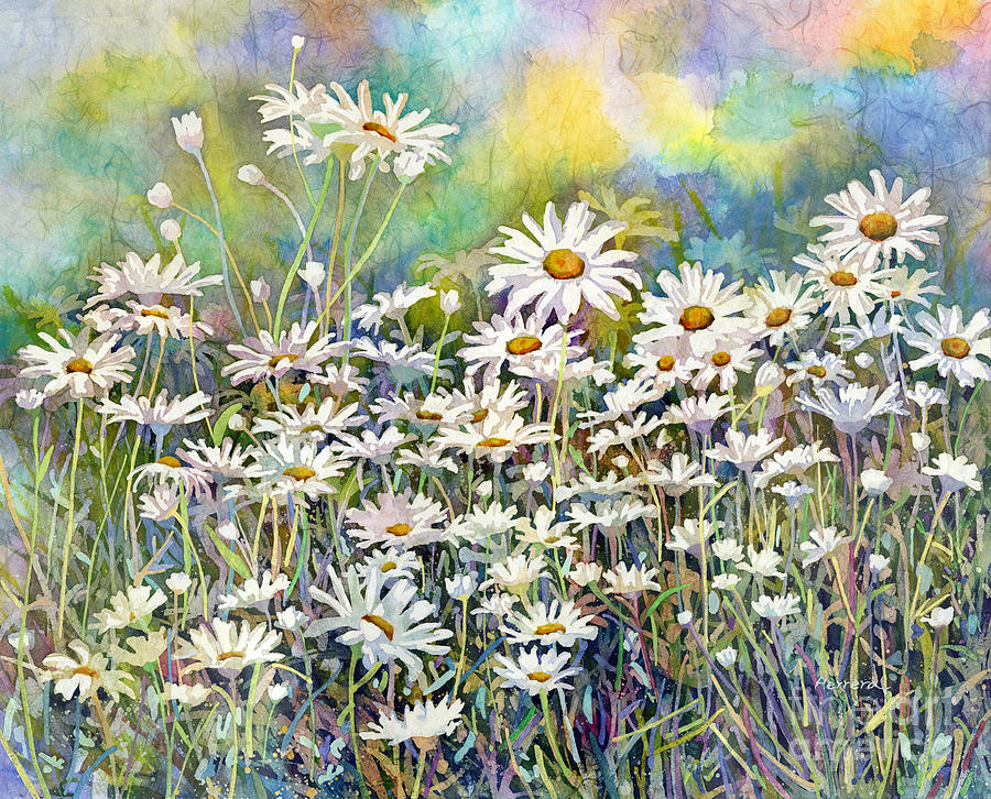 Daisy Painting - Dreaming Daisies by Hailey E Herrera