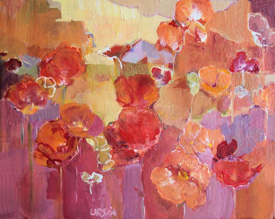 Floral Painting - Dreaming Flowers by Diane Ursin