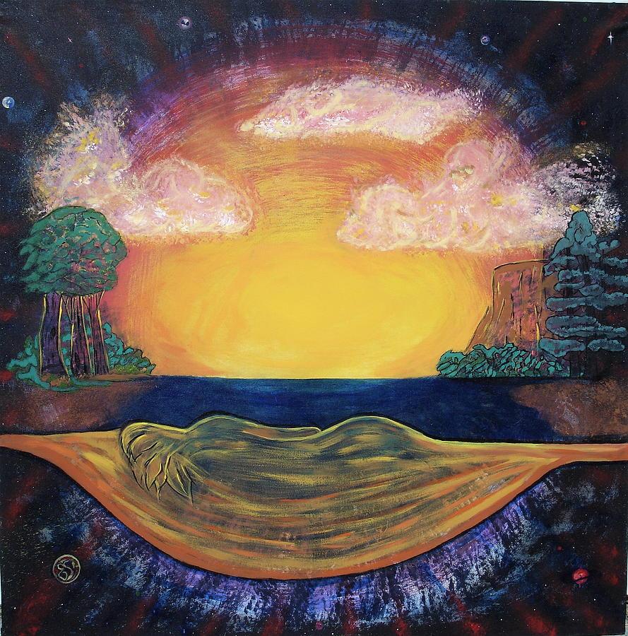 Dreaming Goddess Painting by Eric Singleton