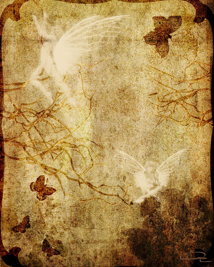 Fairy Painting - Dreaming In The Fairies World by Emma Alvarez