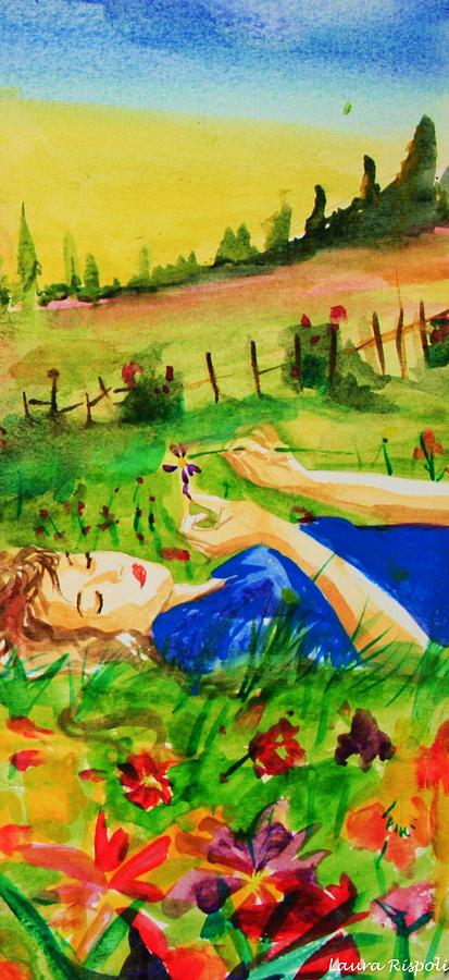 Landscape Painting - Dreaming by Laura Rispoli
