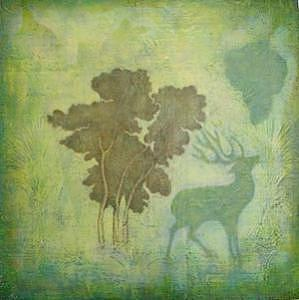 Oil On Wood Painting - Dreaming Nature by QiRe Ching