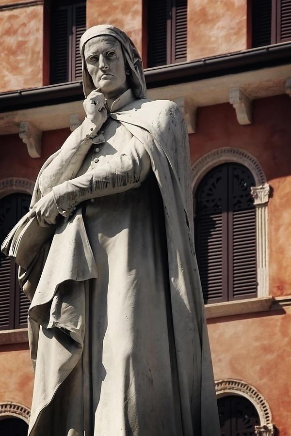 Verona Photograph - Dreaming Of Dante Verona Italy by Carol Japp