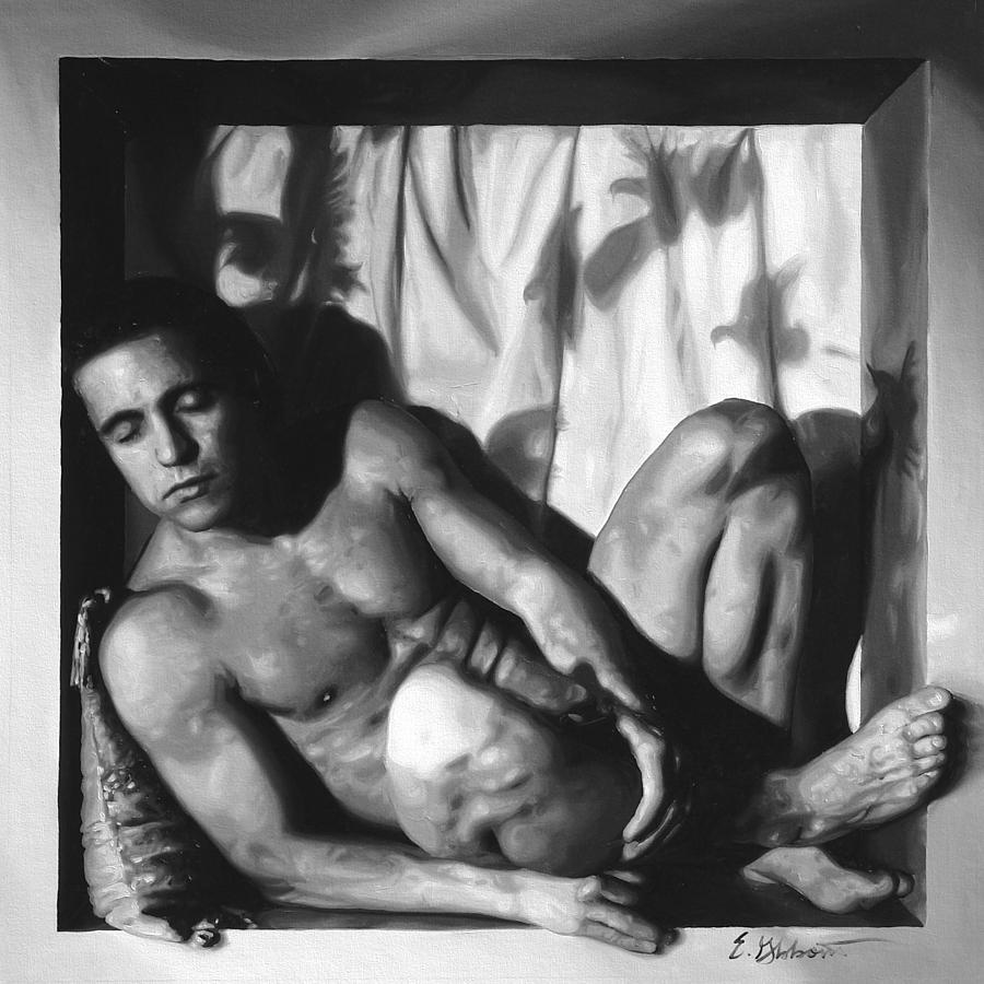 Male Painting - Dreaming Of Doves by E Gibbons