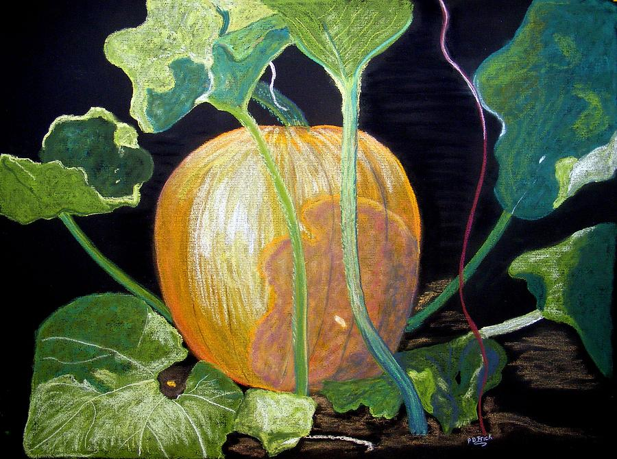 Pumpkins Pastel - Dreaming Of Fall by Diane Frick