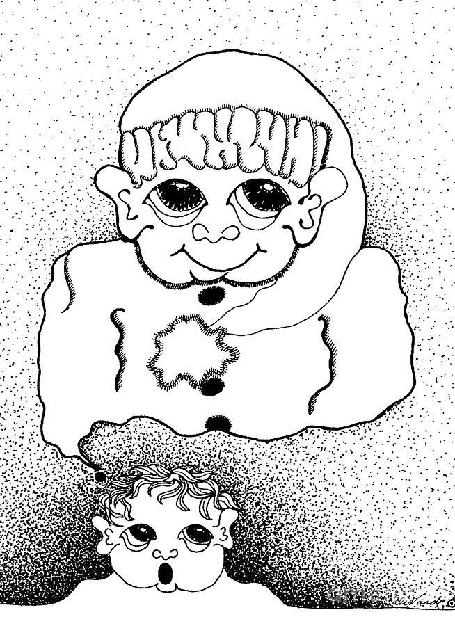 Design Drawing - Dreaming Of Santa by Joy Bradley