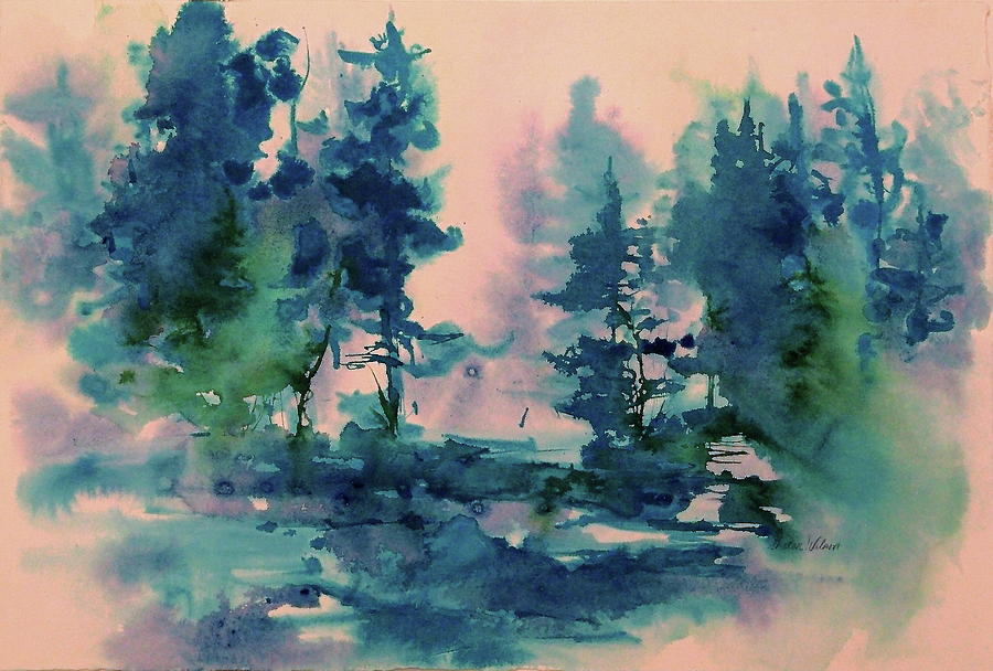 Trees Painting - Dreaming by Sharon K Wilson