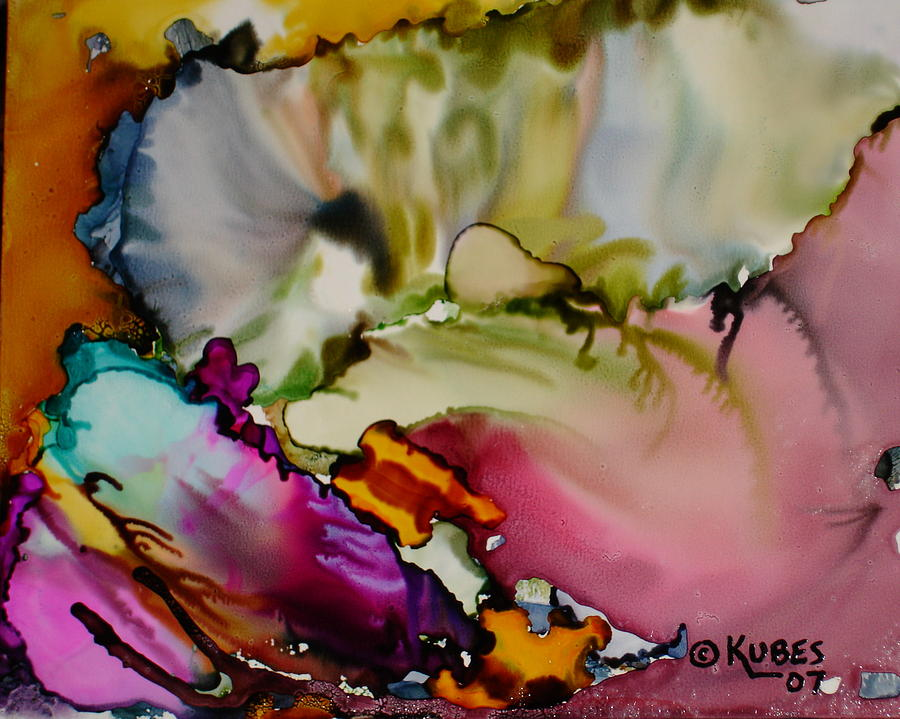 Abstract Painting - Dreaming by Susan Kubes