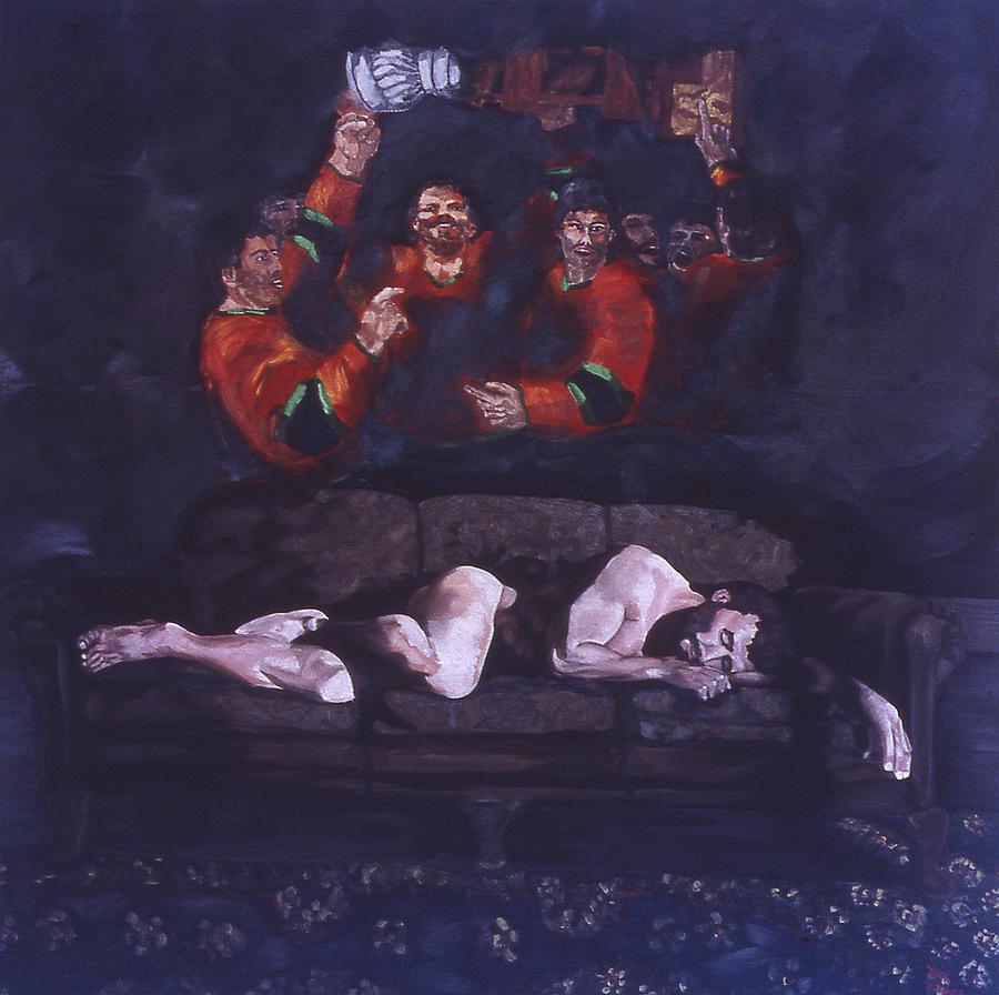 Hockey Painting - Dreaming by Ken Yackel