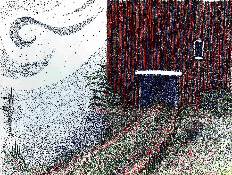 Pointillism Drawing - Dreamland Opens Here... by Saundra Lee York