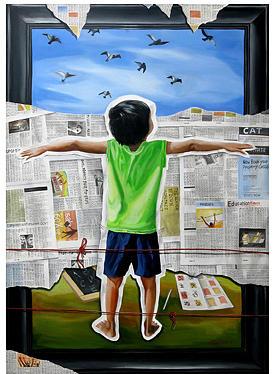 Dreamless Dream Painting by Prasun Mallick