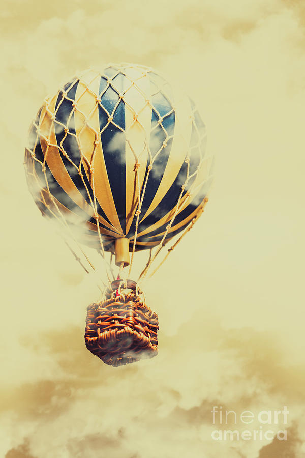 Balloon Photograph - Dreams And Clouds by Jorgo Photography - Wall Art Gallery