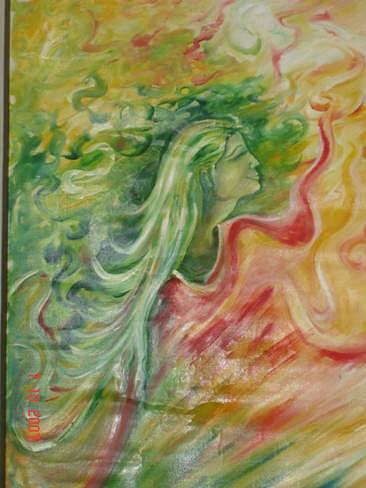 Oil Paintings Painting - Dreams-ii by Dr Ruchi Vidyarthi