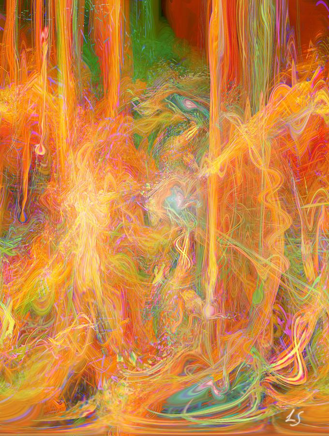 Energy Art Movement Digital Art - Dreams In Color by Linda Sannuti