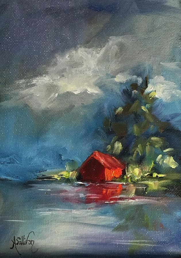Barn Painting - Dreams Realy Do Come True by Angela Sullivan