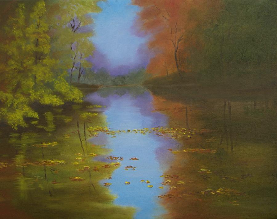 Landscape Painting - Dreams Reflections by Lorraine Foster