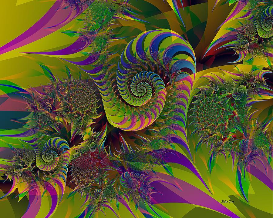 Fractal Digital Art - Dreams by Robin Foss