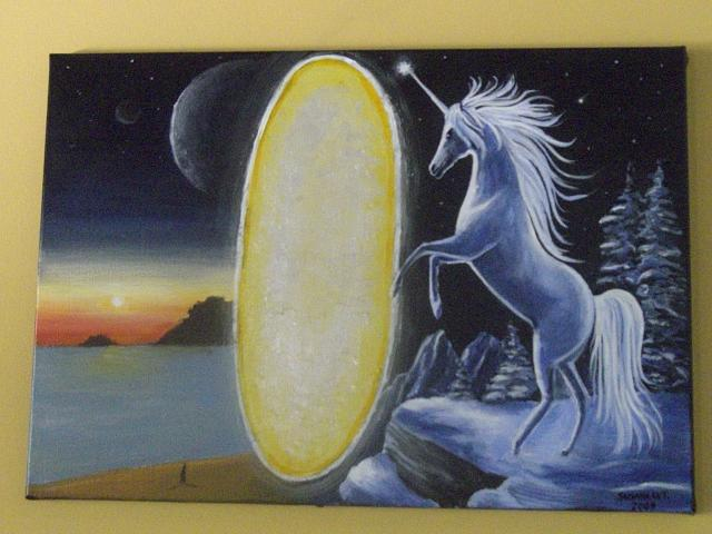 Unicorn Painting - Dreams by Susana Antunes