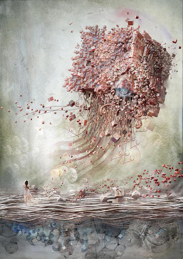 Landscape Digital Art - Dreamscape Flow No.1 by Te Hu