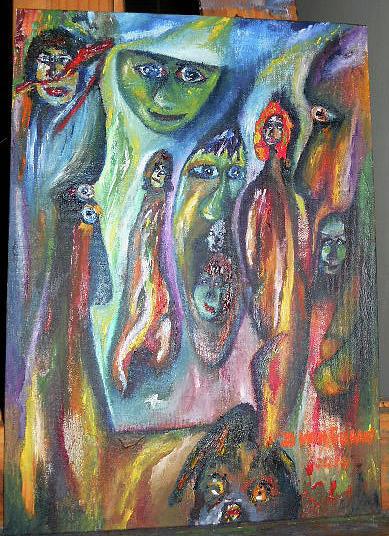 Figure Painting - Dreamstate 1 by Danie Van Graan