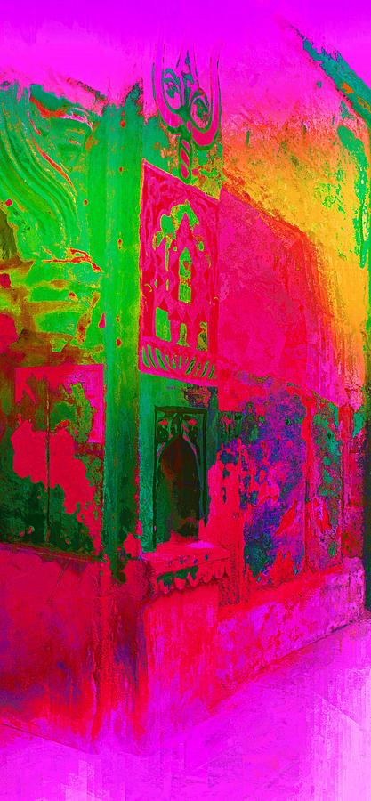 Dreamy Arches Pink Abstract Mural Sun Fort Rajasthan India 2a by Sue Jacobi