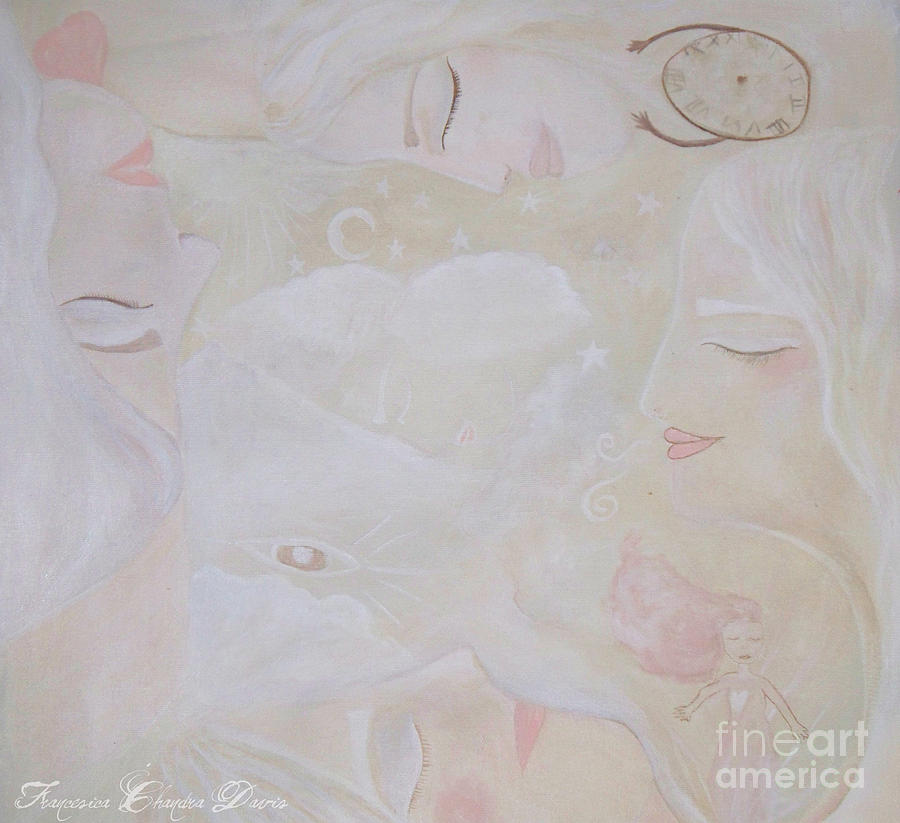 Sepia Painting - Dreamy Goddess by Sacred  Muse