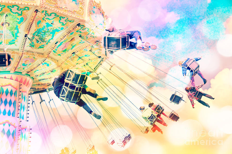 Carnival Photograph - Dreamy Pastel Carnival by Delphimages Photo Creations
