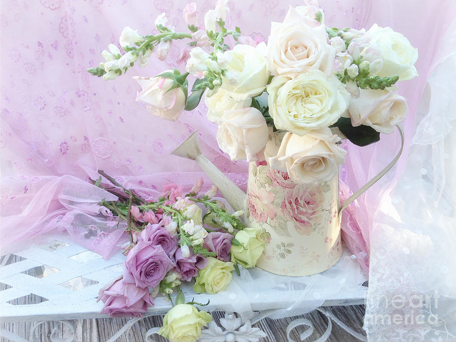 Dreamy Romantic Shabby Chic Spring Roses - Spring Romantic Bouquet ...