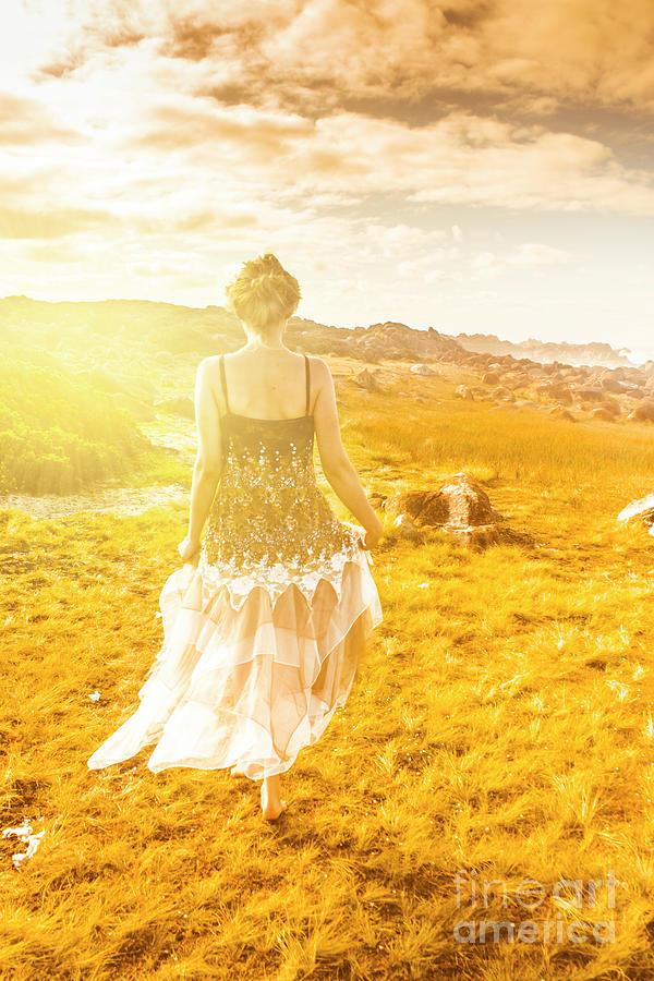 Girl Photograph - Dreamy Summer Fields by Jorgo Photography - Wall Art Gallery