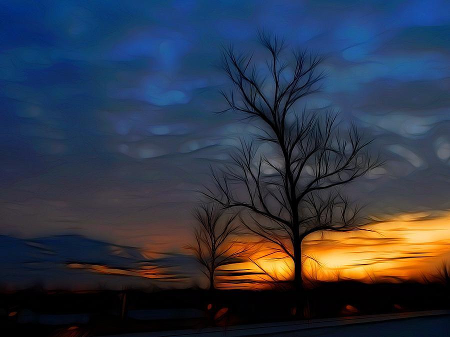 Sundown Photograph - Dreamy Sunset by Ella Char