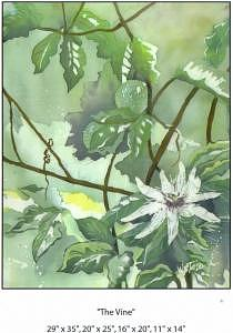 Dreamy Vine Painting by Wendy Tatter