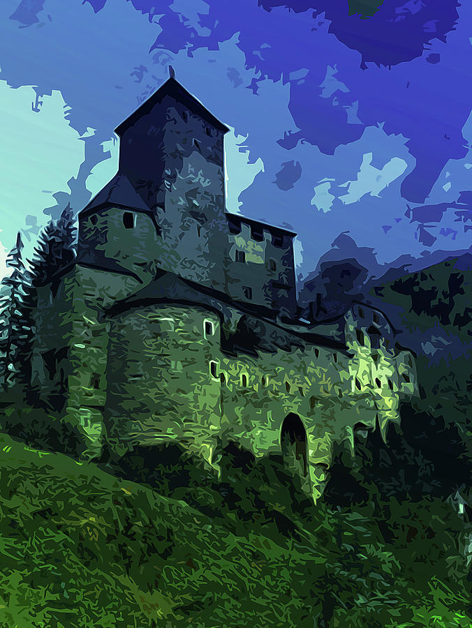 Fortress Painting - Dreary Fortress by Andrea Mazzocchetti