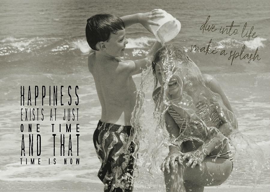 Beach Photograph - Drenched Quote by JAMART Photography