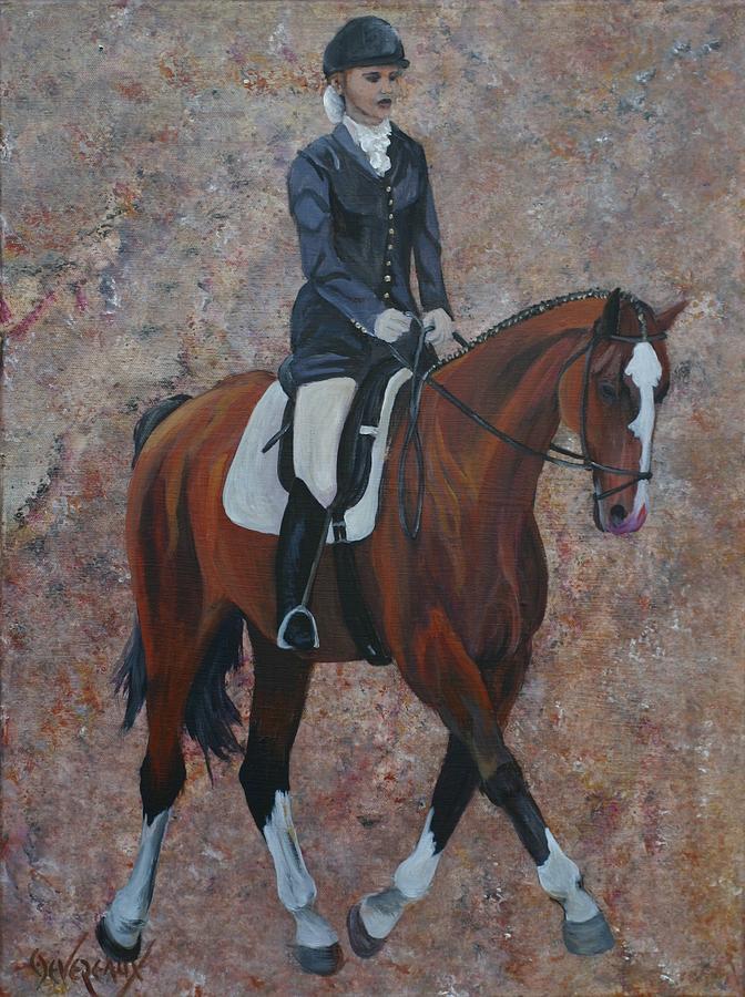 Horse Painting - Dressage by Cher Devereaux