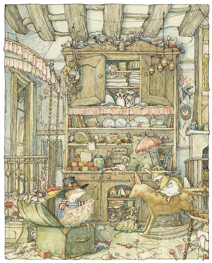 Brambly Hedge Drawing - Dressing Up At The Old Oak Palace by Brambly Hedge
