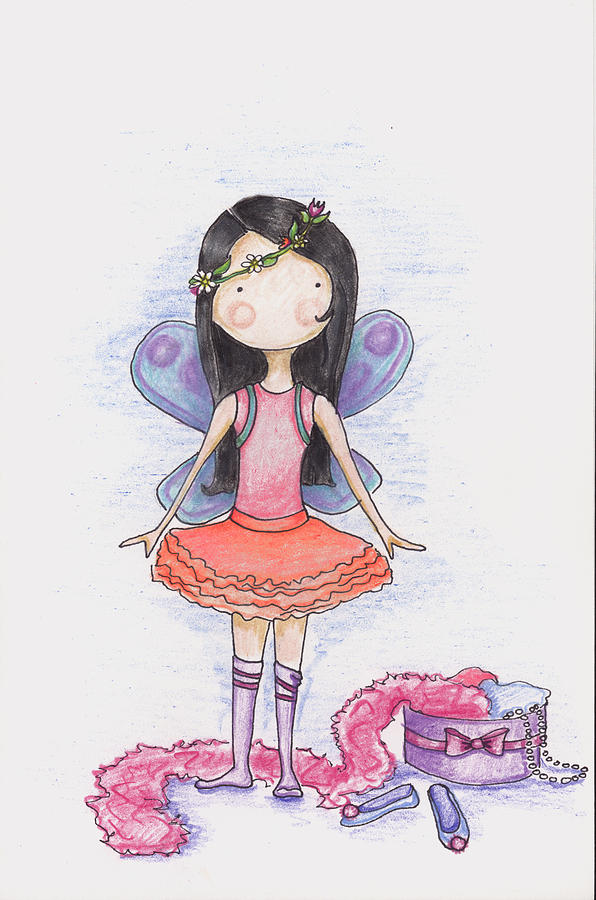 Fairy Drawing - Dressing Up by Sarah LoCascio