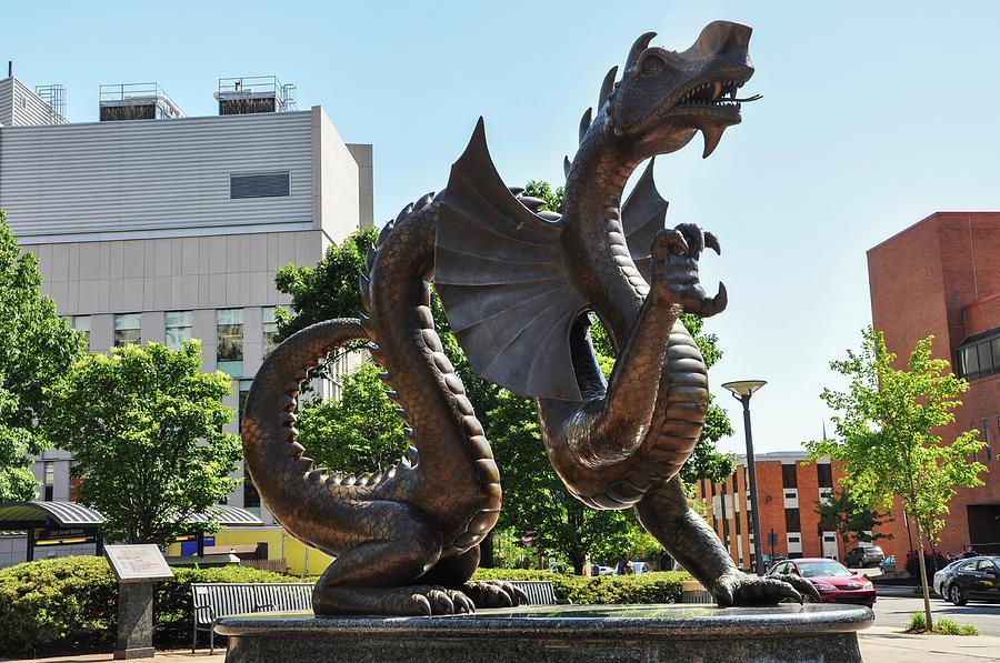Drexel Photograph - Drexel University Dragon - Philadelphia Pa by Bill Cannon