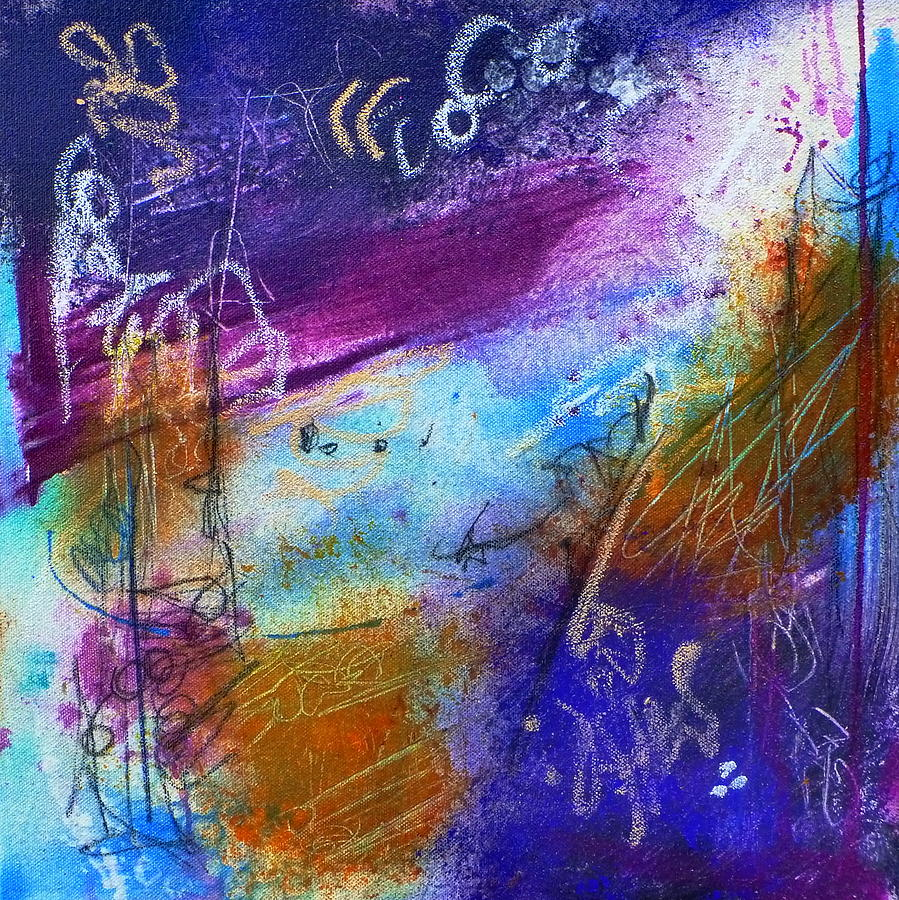 Colorful Painting - Drift Away by Tracy Bonin