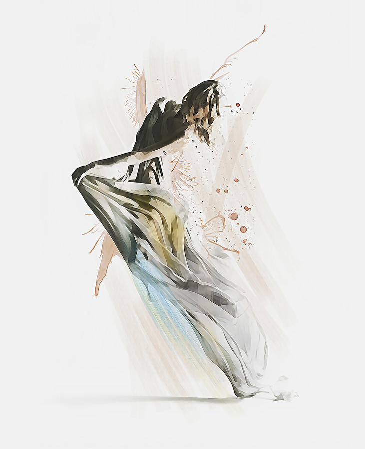 Contemporary Dancer Drawing