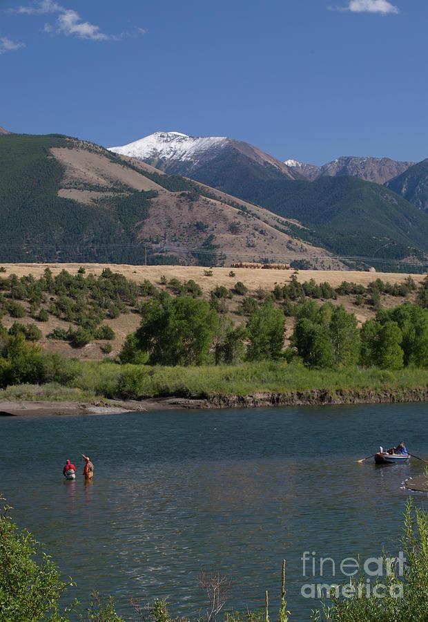 Drift Fishing the Yellowstone by Julian Wicksteed