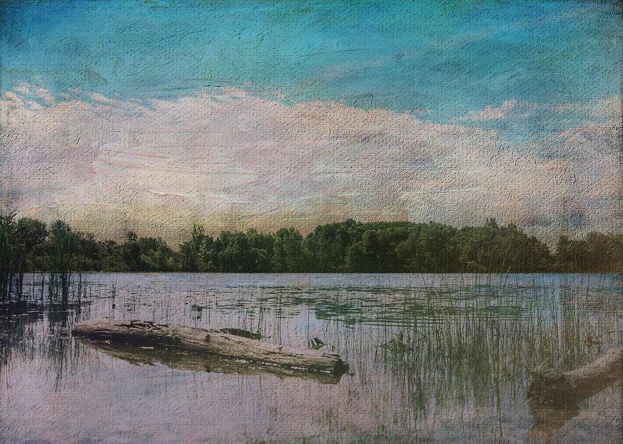 River Digital Art - Drifting Downstream by Sarah Vernon