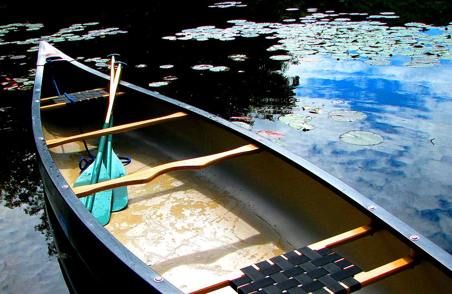 Old Town Canoes Photograph - Drifting Into Summer by Angela Davies