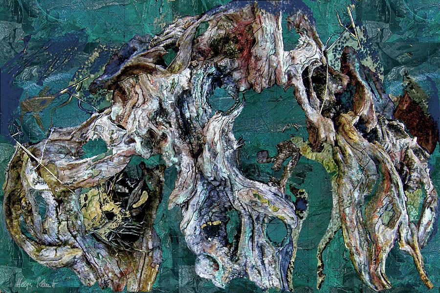 Abstract Digital Art - Driftwood by Helga Schmitt