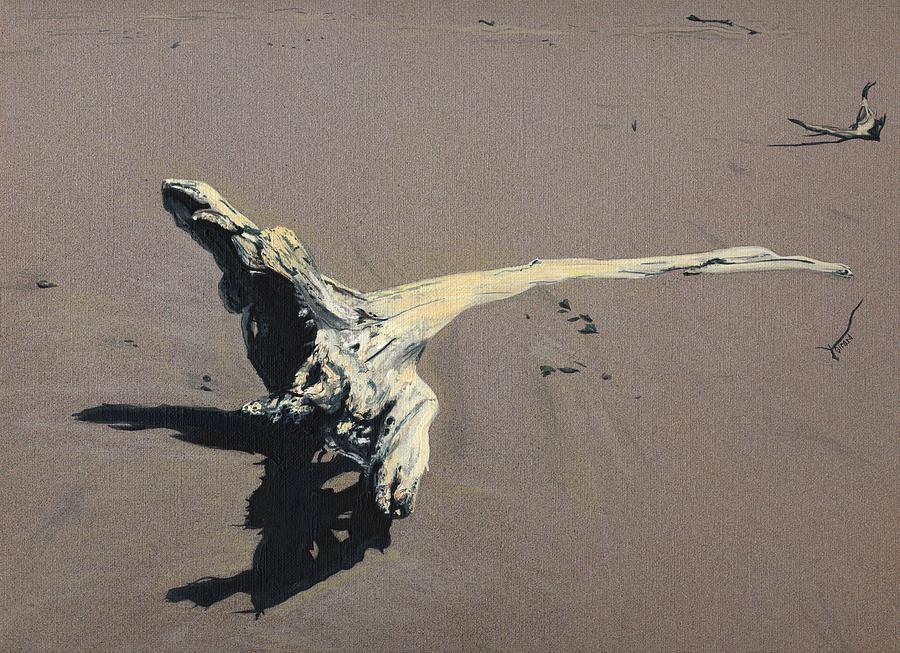 Coastal Painting - Coastal Driftwood by Jason Girard