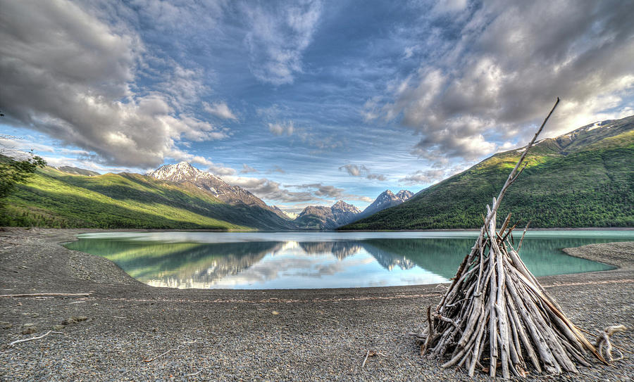 Eklutna Photograph - Driftwood Teepee by Carrie Olier